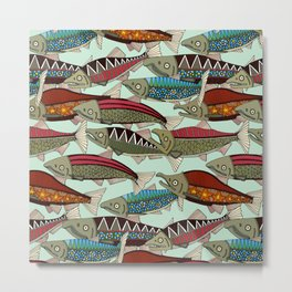 Alaskan salmon mint Metal Print