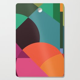 Pink Sunsets Geometric Abstract - Bybrije Cutting Board