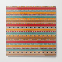 Tribal ethnic seamless pattern design Metal Print