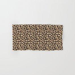 Leopard Print, Black, Brown, Rust and Tan Hand & Bath Towel
