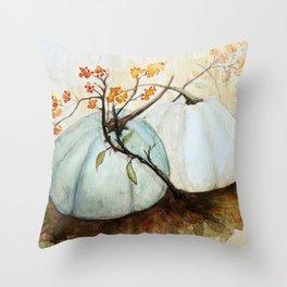 Pumpkin Patch - Watercolor Throw Pillow