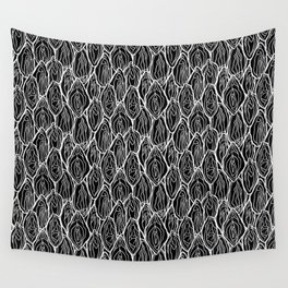 Vagina - Rama, Black with white outlines Wall Tapestry