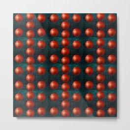 SHINY RED GOLFBALLS Metal Print