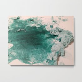 Paint Gone Bad on Canvas Metal Print