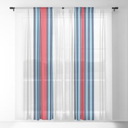 Racing Livery theme Sheer Curtain