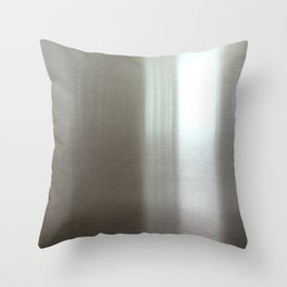 Industrial Brushed Stainless Throw Pillow