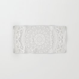 Mandala Soft Gray Hand & Bath Towel
