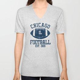Chicago Football Fan Gift Present Idea Unisex V-Neck