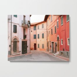 Colorful streets of Italy | Fine art travel photography print Europe Metal Print