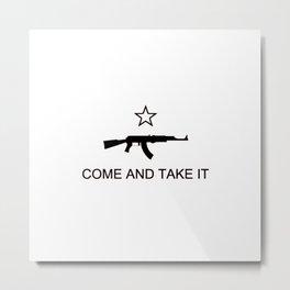 Come and Take It AK47 Black Metal Print