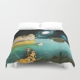 View from Rhodes Duvet Cover
