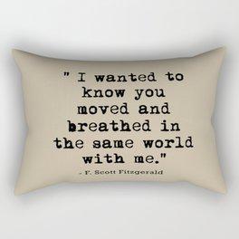 Fitzgerald Quotes Rectangular Pillow
