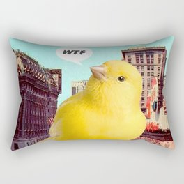 WTF // Canary Bird in NYC Rectangular Pillow