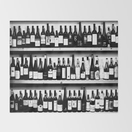 Wine Bottles in Black And White #decor #society6 #buyart Throw Blanket