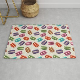 Colorful macarons pattern Rug