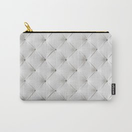 White Tufted Carry-All Pouch