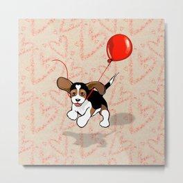 The Love Puppy — Balloon Metal Print