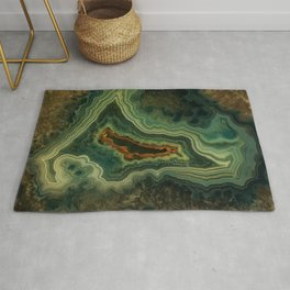 The world of gems - green agate Rug