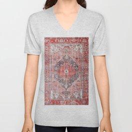 Vintage Anthropologie Farmhouse Traditional Boho Moroccan Style Texture Unisex V-Neck