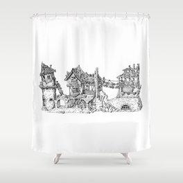 Fantasy Ruin Shower Curtain