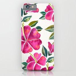 Hibiscus Bloom - Fuchsia Palette iPhone Case