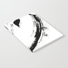 Brushstroke 6: a minimal, abstract, black and white piece Notebook