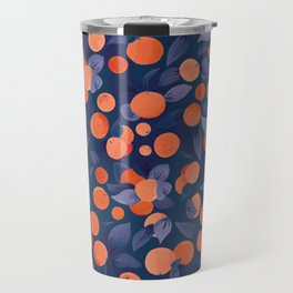 Midnight Oranges | Blue Travel Mug