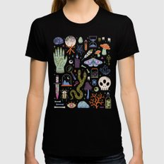 Curiosities Black LARGE Womens Fitted Tee