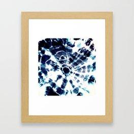 Tie Dye Sunburst Blue Framed Art Print