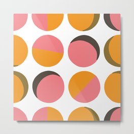 PoP Round Pattern Metal Print