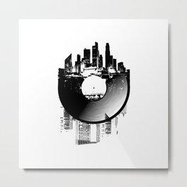 Urban Vinyl of Underground Music Metal Print