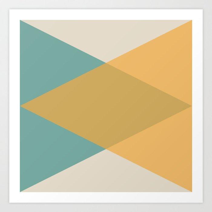 Mid Century - Yellow and Blue Kunstdrucke