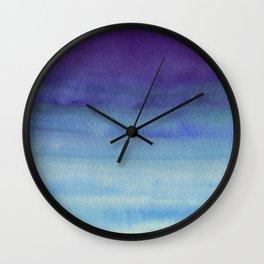 Sky Watercolor Texture Abstract 598 Wall Clock