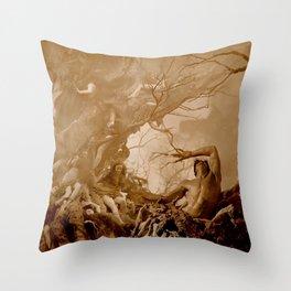Vivid Retro - Return to Dante's Inferno 1 Throw Pillow