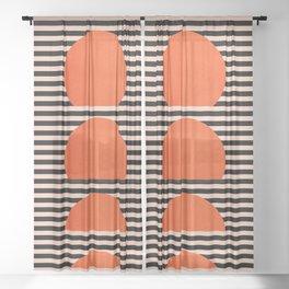 Abstraction_SUNSET_LINE_ART_Minimalism_001 Sheer Curtain