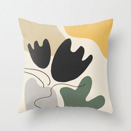 Organic Shapes Flower Still Life Throw Pillow