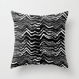 Dark Glitch Abstract Pattern Throw Pillow