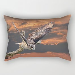 owl at sunset Rectangular Pillow