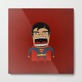 Screaming Superdude Metal Print