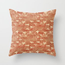 Baby Bamboo - red Throw Pillow