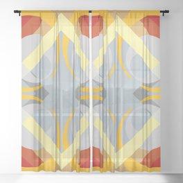 Semoon - Colorful Abstract Art Sheer Curtain
