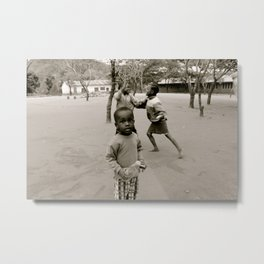 The Children at Play Metal Print