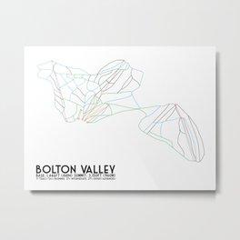 Bolton Valley, VT - Minimalist Trail Maps Metal Print