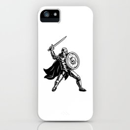 Medival Soldier With Shield iPhone Case