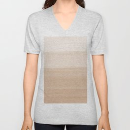 Touching Warm Beige Watercolor Abstract #1 #painting #decor #art #society6 Unisex V-Neck
