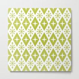 Mid Century Modern Atomic Triangle Pattern 131 Metal Print
