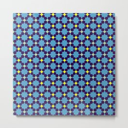 Cute Colorful Arabic Pattern Metal Print