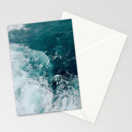 Ocean Waves (Teal) Stationery Cards