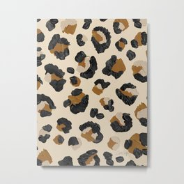 Leopard Print – Neutral Gold Light Palette Metal Print