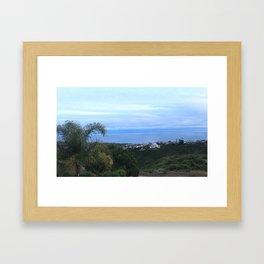 CLOUDS ON THE COAST Framed Art Print